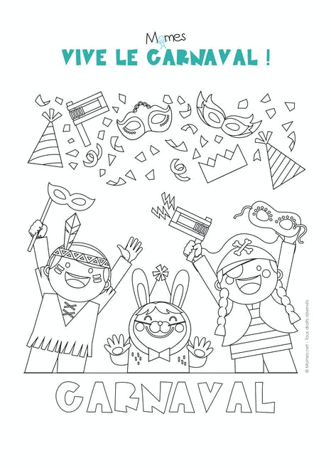 Coloriage Carnaval Momes Net