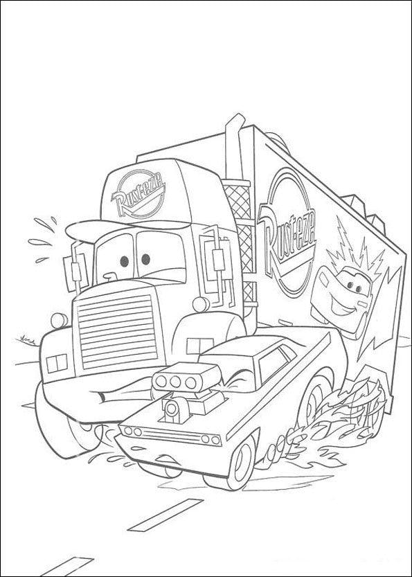 Coloriage Cars 5 Momes Net
