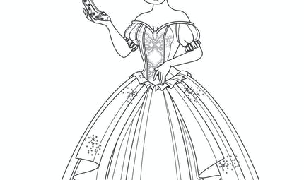 Coloriage cendrillon