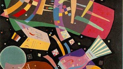 Coloriage Composition X de Kandinsky