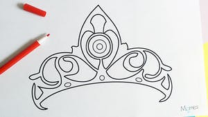Coloriage couronne de Princesse