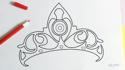 Coloriage couronne de Princesse