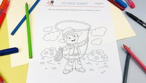 Coloriage Cowboy au lasso