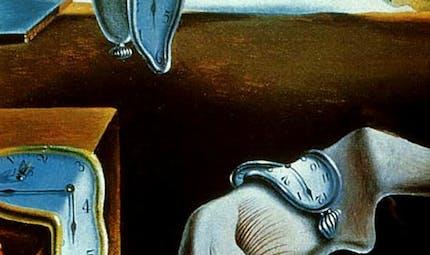 Coloriage d'après La Persistance de la mémoire de Dali