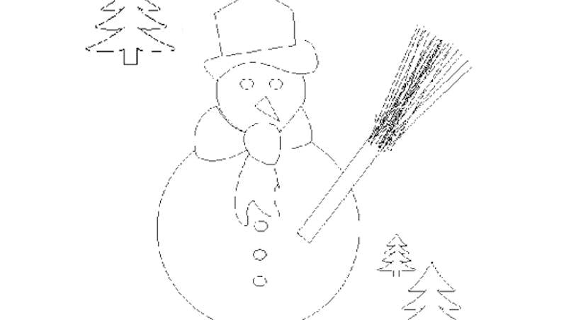 Coloriage de bonhomme de neige