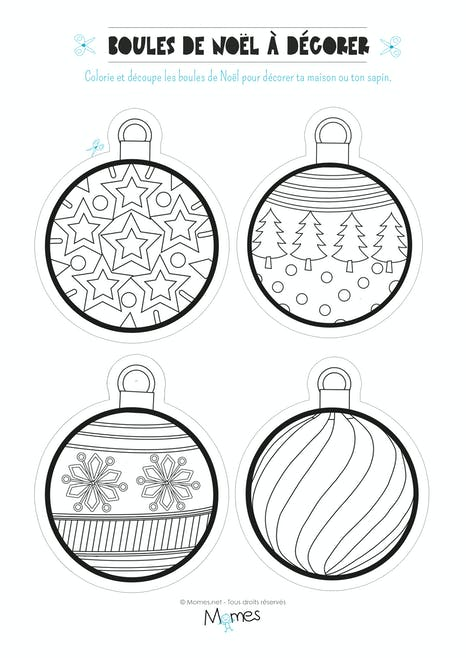Coloriage de boules de Noël | MOMES.net