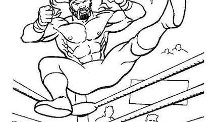 Coloriage de Catch - Hulk Hogan