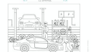Coloriage Le garage automobile