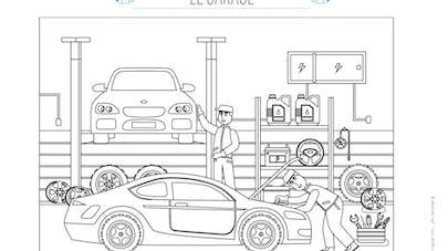 coloriage de garage automobil