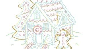 Coloriage de la Maison en pain d'épices