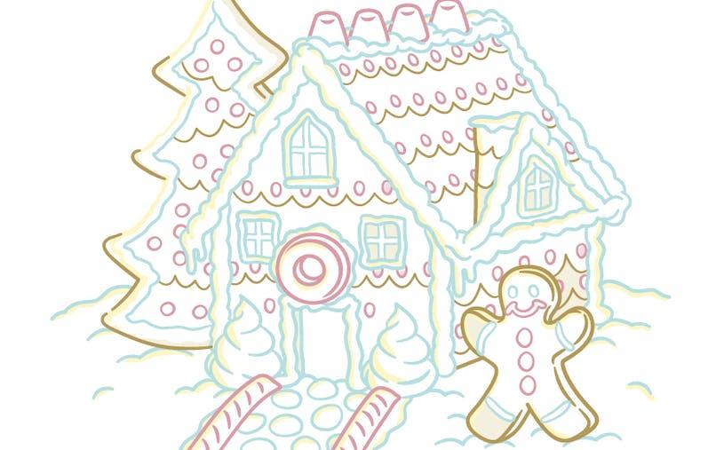 Coloriage Maison en pain d'épices