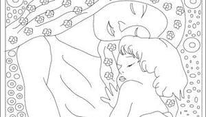 Coloriage de la maternité selon Klimt