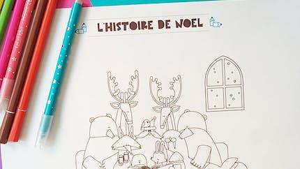 Coloriage de noël : l'histoire du Père Noël