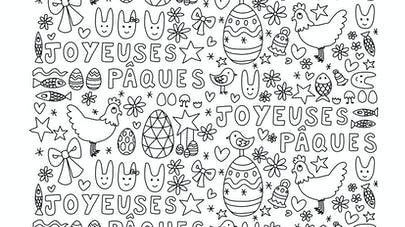 coloriage paques astridm