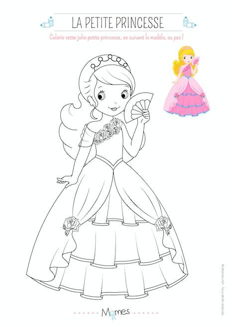 Coloriage De Princesse Avec Modele Momes Net