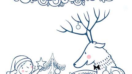 Coloriage Décorons le sapin de Noël