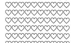 Coloriage des 100 coeurs aux milles couleurs