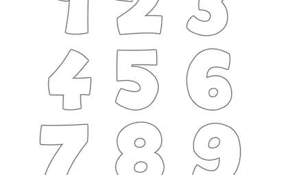 Coloriage des chiffres
