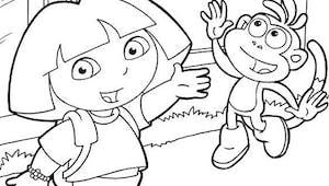 Coloriage Dora 1