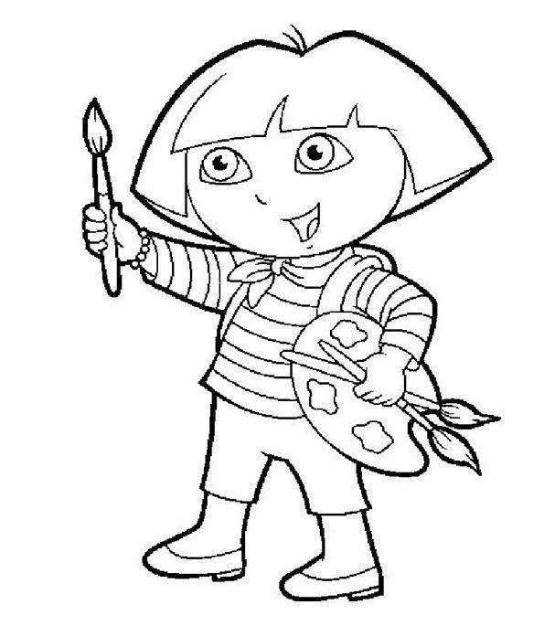 Coloriage Dora 2 Momes Net