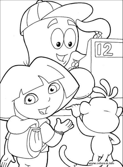 Coloriage Dora 5 Momes Net