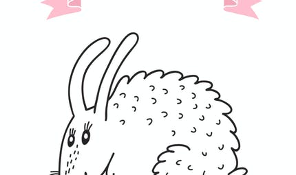 Coloriage du calendrier chinois : le lapin