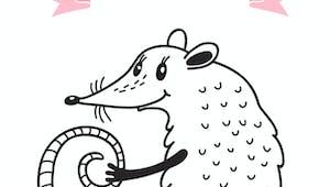 Coloriage du calendrier chinois : le rat