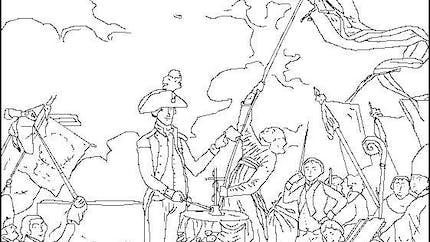 Coloriage du serment de La Fayette à la fête de la Fédération