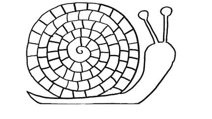 Coloriage escargot : exercice