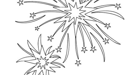 Coloriage explosion des feux d'artifice
