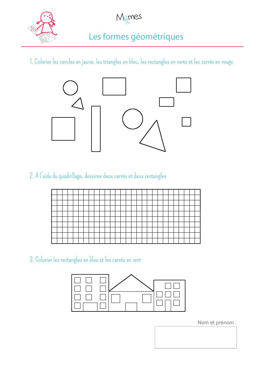 Coloriage Formes Geometriques Exercice Momes Net
