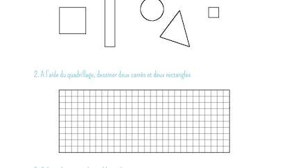 Coloriage formes géométriques: exercice