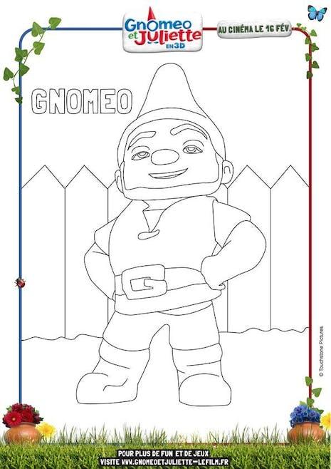 Coloriage Gnomeo et Juliette 1