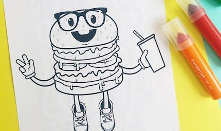 Coloriage Hamburger à imprimer