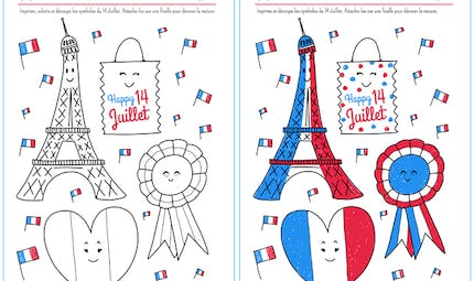Coloriage Happy 14 Juillet