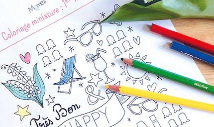 Coloriage Happy 1er Mai