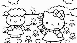 Coloriage Hello Kitty - 10