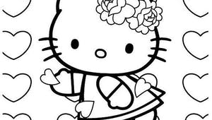 Coloriage Hello Kitty - 12