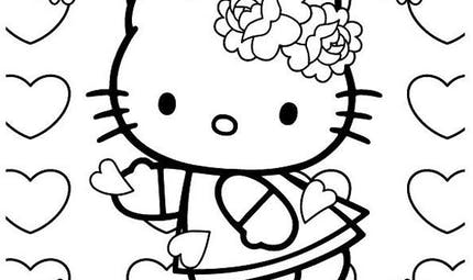 Coloriage Hello Kitty - 12