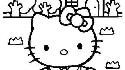 Coloriage Hello Kitty - 2