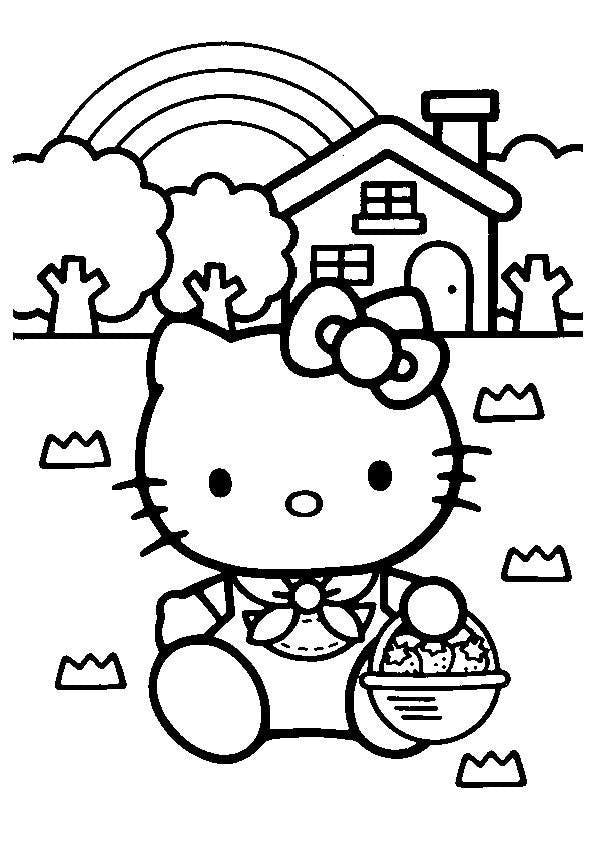 Coloriage Hello Kitty 2 Momes Net