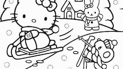 Coloriage Hello Kitty - 3