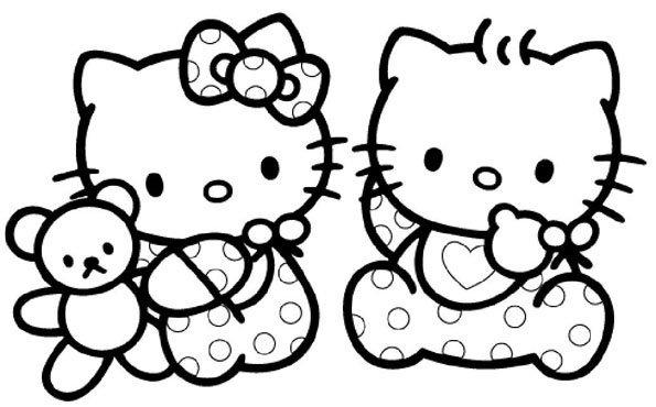 Coloriage Hello Kitty Bebe Momes Net