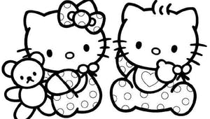 Coloriage Hello Kitty bébé