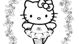 Coloriage Hello Kitty petite danseuse