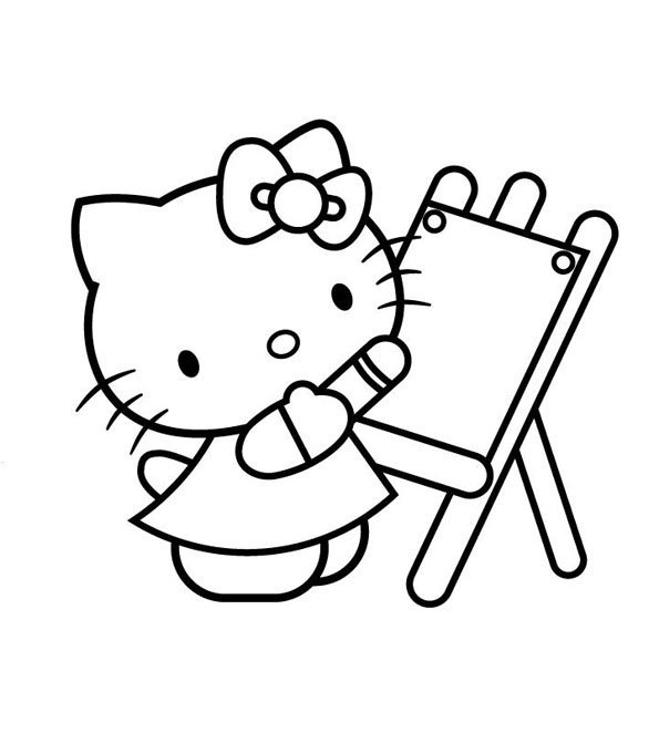 Coloriage Hello Kitty 7 Momes Net