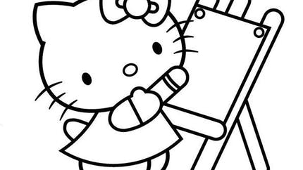 Coloriage Hello Kitty - 7