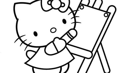 Coloriage Hello Kitty - 7