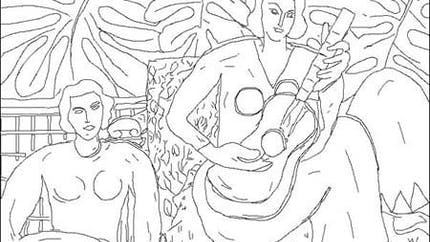 Coloriage Henri Matisse