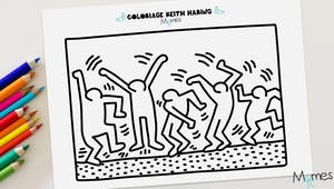 Coloriage Keith Haring : les danseurs
